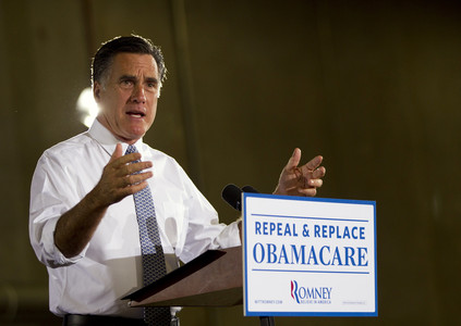 Mitt Romney, en Orlando, durante el acto en el que present sus planes sanitarios. 
