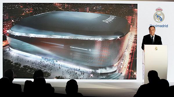 El presidente del Madrid presenta el proyecto de reforma, que estará finalizado para el 2017.
