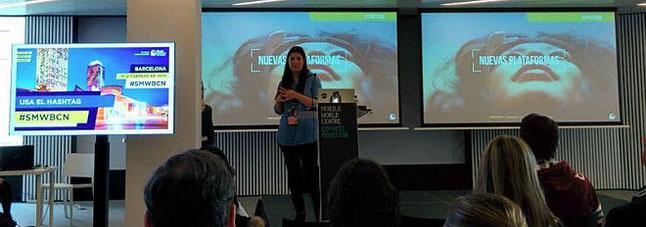 Mar Barberá, durante su exposición en la Social Media Week.