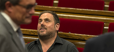 Mas y Junqueras, durante el debate de pol�tica general.