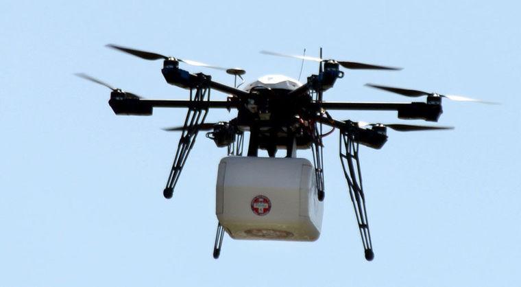 Primera entrega de medicinas con un drone