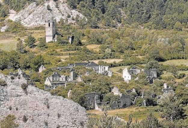 Una vista general de Jánovas, en la comarca altoaragonesa <br/>del Sobrarbe.