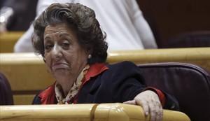 Rita Barberá, en el Senado, el 15 de marzo