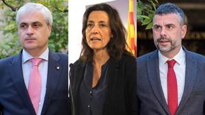 De izquierda a derecha, Germà Gordó, Mercè Conesa y Santi Vila.