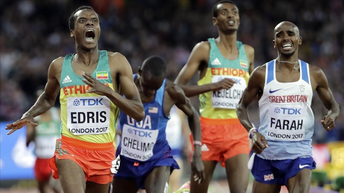 El etíope Edris supera al hasta ahora imbatible Farah.