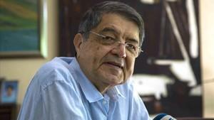 Sergio Ramírez, en su residencia de Managua, este jueves.