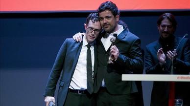 Carles Torras, en la clausura del festival de M�laga, junto a Mart�n Bacigalupo, coguionista y protagonista de 'Callback'.