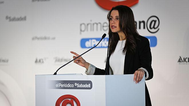 Inés Arrimadas, cabeza de lista de Ciutadans para las elecciones del 27-S, ha protagonizado el debate Primera Plana del viernes 18 de septiembre.
