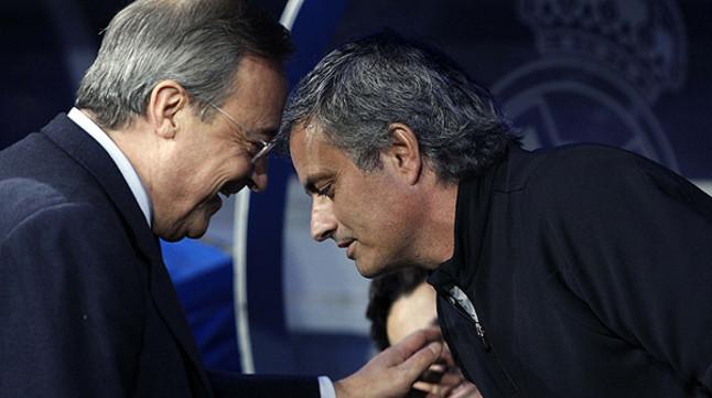 """Florentino P�rez: """"Es falso que haya habido un ultim�tum sobre Mourinho"""""""