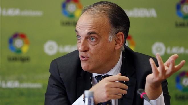 Javier Tebas, presidente de La Liga, en un acto