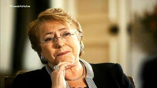La presidenta de Chile, Michelle Bachelet, con I�aki Gabilondo (#0).