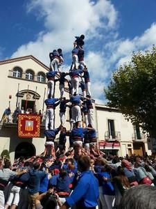 El 'nou de set' descargado por los Cargolins de Esplugues este domingo en la actuaci�n de Fiesta Mayor.