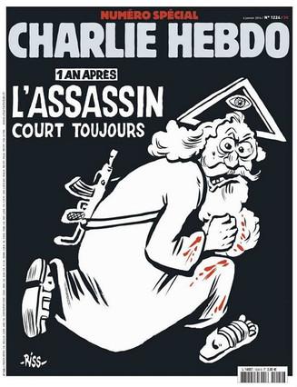 'Charlie Hebdo' recuerda el primer año de la matanza con un dios asesino en una polémica portada