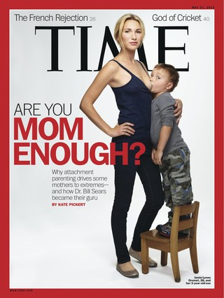 Pol�mica por una portada de 'Time' sobre la lactancia a ni�os mayores