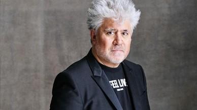 El realizador Pedro Almod�var, durante el rodaje de 'Julieta'.