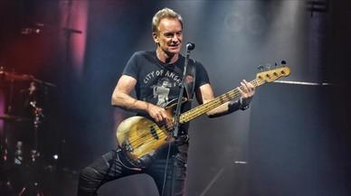 Sting, durante suconcierto en el Sant Jordi Club de Barcelona.