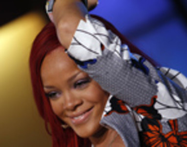 Rihanna en una actuaci�n en el ABC's Good Morning America.