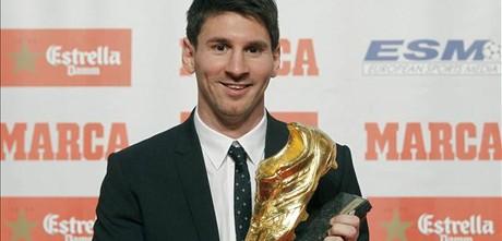 Leo Messi, con la Bota de Oro.