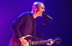 Marc Parrot, durante su actuaci�n en Vic