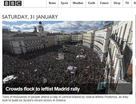 La portada de la edición digital de la BBC.