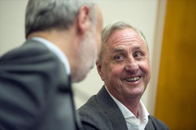 Cruyff, en la presentación del acuerdo entre la UAB y su fundación.