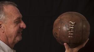 Johan Cruyff, en una imagen de una entrevista con EL PERIÓDICO.