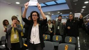 Marta Rovira en el Consell Nacional de Esquerra Republicana.
