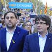Oriol Junqueras y Carles Puigdemont. ALBERT BERTRAN