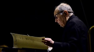 amargets32824633 composer ennio morricone of italy performs on stage at the160726122945