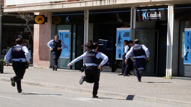 Atraco con rehenes frustrado en un banco de Girona