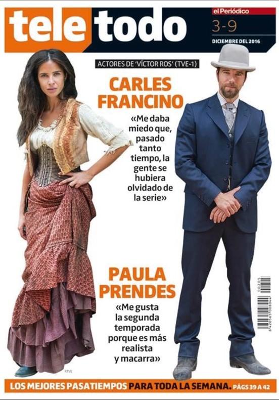 Carles Francino y Paula Prendes, enamorados en 'Víctor Ros'