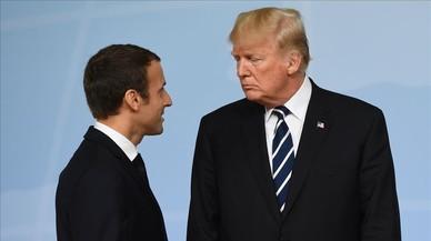 Macron y Trump: cena romántica para cuatro en la Torre Eiffel