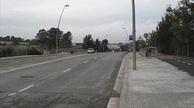 Imagen del lugar donde se produjo el atropello en la carretera de Riu Sec de Sabadell