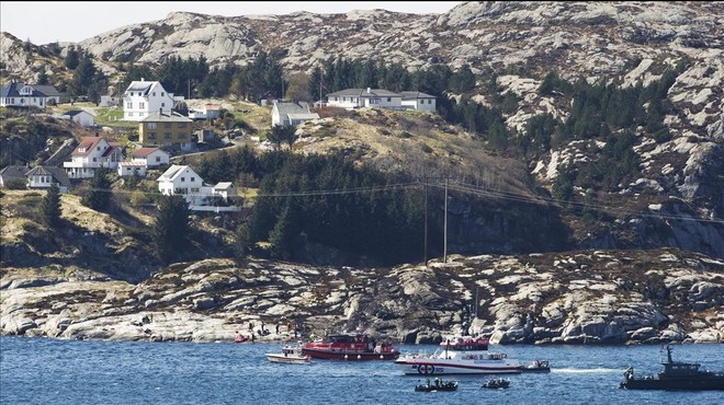 Un helicòpter cau a la costa oest de Noruega i moren onze dels seus ocupants