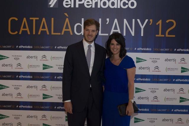 El presidente de Grupo Zeta Antonio Asensio Mosbah, junto a su esposa, Irene Salazar Grau.