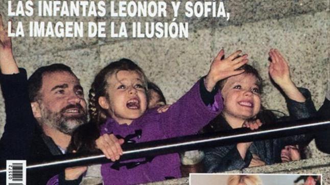 Hola muestra la emoci�n de las infantas Leonor y Sof�a ante los Reyes Magos