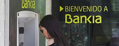 Una clienta de Bankia.