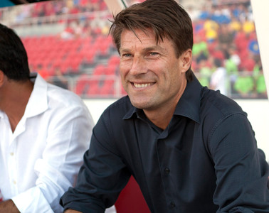 El dans Michael Laudrup, cuando entrenaba el RCD Mallorca el pasado ao.