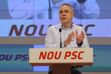 Pere Navarro, lder del PSC, en el Consell Nacional del partido, este sbado.