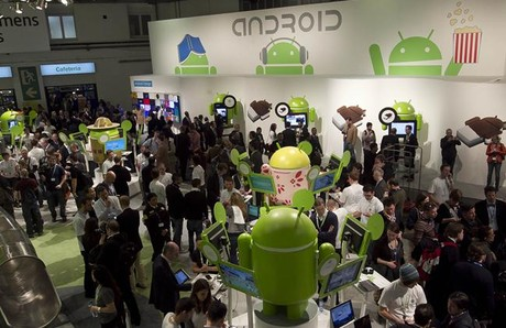 Estand de aplicaciones de Android en el �ltimo Mobile World Congress, en Barcelona.