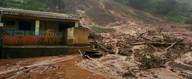Una de las zonas afectadas, en la localidad de Malin, en el distrito de Pune.