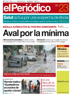 La portada de EL PERI�DICO DE CATALUNYA