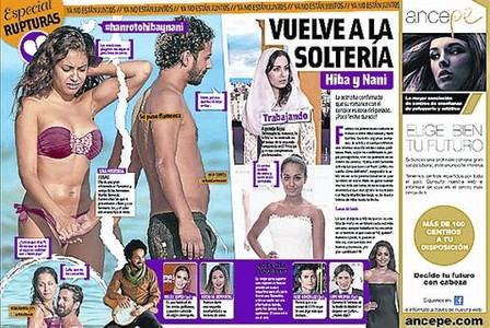 'Cuore' publica en exclusiva la separaci�n de Dani Mart�n y Blanca Su�rez, pero tambi�n dedica p�ginas a la ruptura de Mario Casas y Mar�a Valverde, y la de Hiba Abouk y Nani Cort�s.