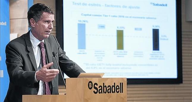 Jaume Guardiola, durante la presentación de resultados de ayer.