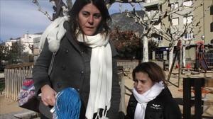 Nadia Nerea y su madre, el pasado 24 de noviemrbe den Organyà.