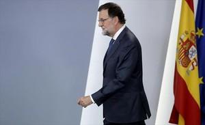 Rajoy, el pasado 7 de septiembre en el palacio de la Moncloa.