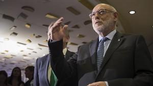 El fiscal general del Estado, José Manuel Maza, este lunes, en València.