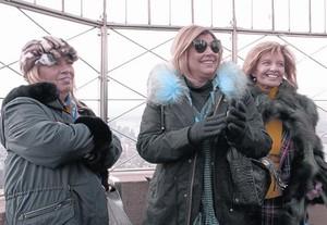 Carmen Borrego, Terelu Campos y María Teresa Campos, en Manhattan.