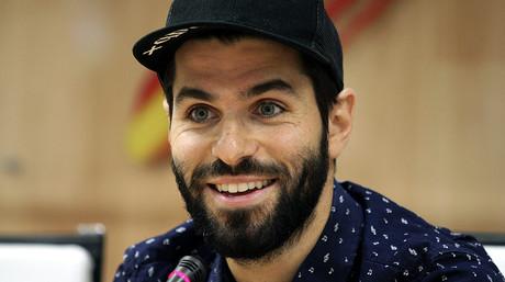 Jaime Alguersuari, durante la rueda de prensa que ha ofrecido en la sede del Consejo Superior de Deportes para anunciar que deja de pilotar