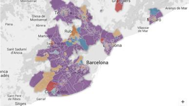 ¿Què va votar el teu veí a la teva ciutat de l'àrea metropolitana de Barcelona?
